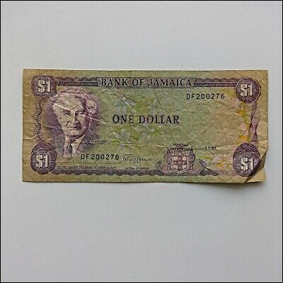 Bank Of Jamaica One Dollar $1 1989 Banknote (AP13)