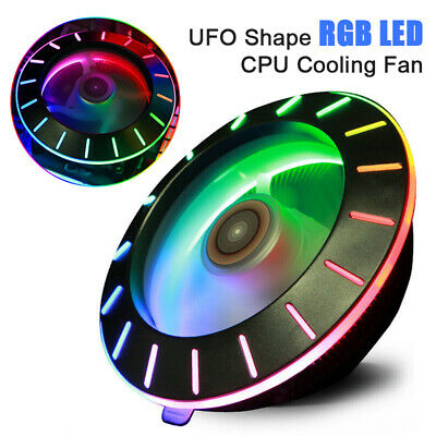 For Intel / AMD Socket Colorful RGB LED UFO CPU Fan Cooling  Universal Radiator