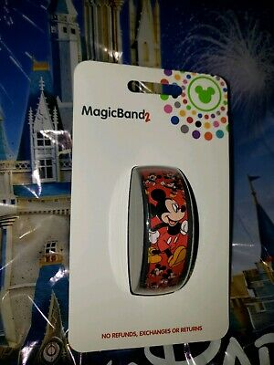 Disney MICKEY MOUSE Ultimate All Over Red Magic Band Magicband Parks New