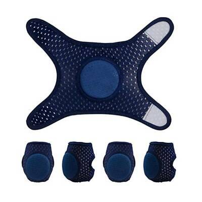 1 Pair Soft Baby Crawling Knee Pads Safety Anti-slip Walking Elbow Protector US