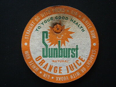 Sunburst Natural Orange Juice To Your Good Health Coaster