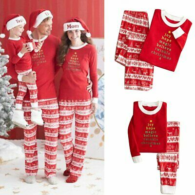 Family Christmas Pajamas Set Xmas Matching Pyjamas Women Mother's XL Sleepwear