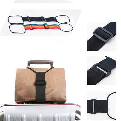 Adjustable Add A Bag Strap Travel Luggage Suitcase Belt Carry On Bungee Straps