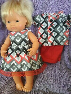Handmade Clothes For 38cm Miniland doll Boy and Girl  sets (twins )