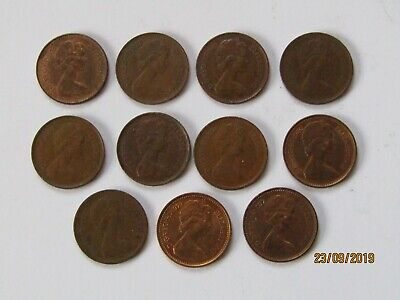 Elizabeth II 1/2 penny date run 1971 - 1982 nice collectable coins