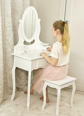 Girls Dressing Table With Stool and Mirror | Children's Vanity Table 8-13