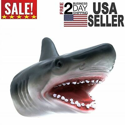 Shark Hand Puppet Soft Kids Toy Gift Great ForJaws Cake Decoration Topper
