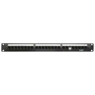 CAT5e 24 Port Patch panel Rear cable management bar 1RU Height and Rack