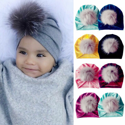 Toddler Girls Boys Baby Bandana Turban Cotton Beanie Hat Winter Cap