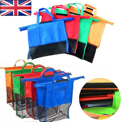 Foldable Thicken Cart Trolley Supermarket Shopping Bags Handbag Totes for Women