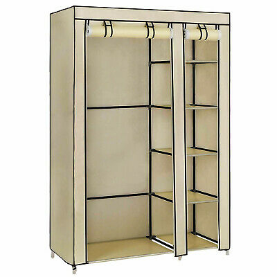 Strong Large Fabric Multiple Canvas Hanging Wardrobe Cover Double with Doors Kid