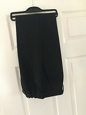 M & S Black boys school trousers age 11-12 - only worn once