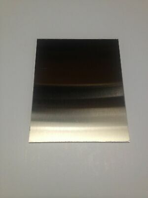 "1/16"" x 8"" x 8"" BRUSHED Stainless Steel Plate, 304 SS, 16 gauge, .0625"",4B"
