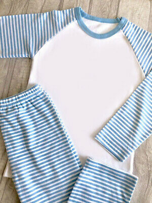 Children's Kids Stripe Pyjamas Boys Girls Nightwear Christmas Gift Age 6m-10yrs