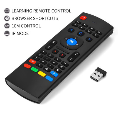 Superview 2.4Ghz Fly Wireless Air Remote Qwerty Keyboard for Android TV Boxes UK