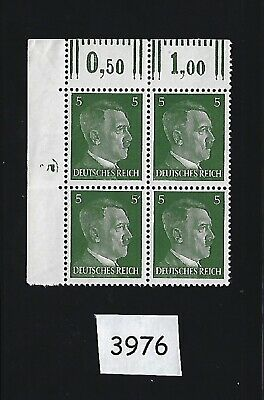 #3976   MNH stamp block / Adolph Hitler / PF05 / WWII Germany / 1941 Third Reich