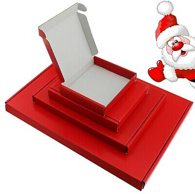 Satin Red Mini A6 A5 A4 Pip Boxes Large Letter Shipping Christmas Jewellery Gift