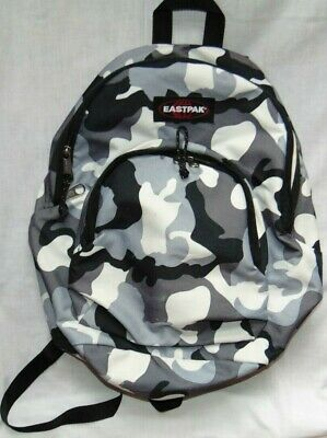 Small Black Gray Camo EASTPAK Camouflage Backpack Bag!