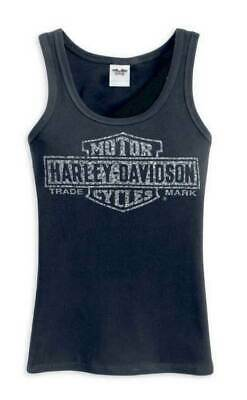 Harley-Davidson Women's Bar & Shield Logo Black Tank 99102-12VW