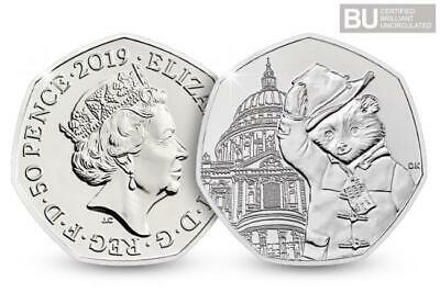 2019 50p Coin - Paddington at St. Paul's Cathedral -  BU Brilliant Uncirculated