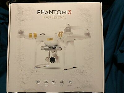 DJI Phantom 3 Professional Drone 4K Video Camera + Xtra Propellers BRAND NEW