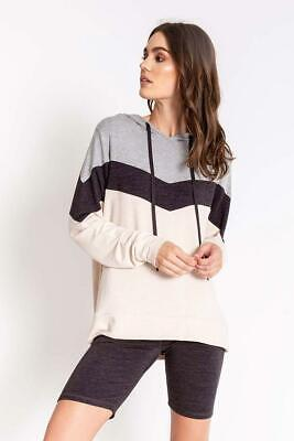 PJ Salvage Women's Lounge Essentials Stretch Terry Hoodie - Oatmeal
