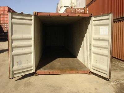 Used 40' High Cube Steel Storage Container Shipping Cargo Conex Seabox Detroit