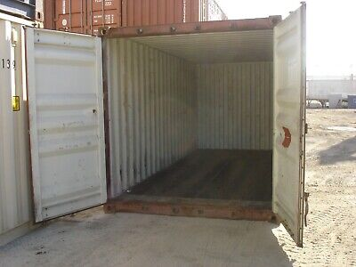 Used 40' Dry Van Steel Storage Container Shipping Cargo Conex Seabox El Paso