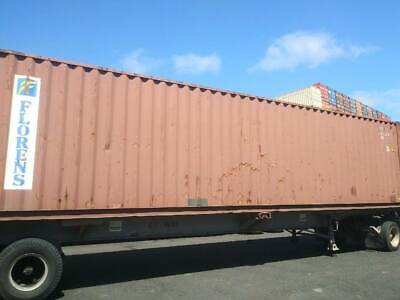 Used 40' High Cube Steel Storage Container Shipping Cargo Conex Seabox El Paso