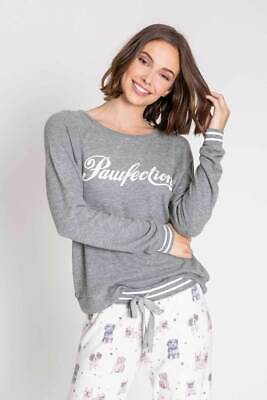 PJ Salvage Women's Pawfection Long Sleeve Jersey Top - Heather Grey