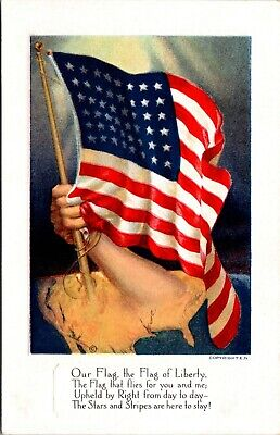 Our Flag The Flag of Liberty Embossed Postcard