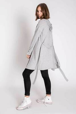 PJ Salvage Women's Peachy Duster Jersey Lounge/Casual Wear - Heather Grey