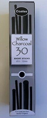 Coates Willow Charcoal 30 Short Sticks