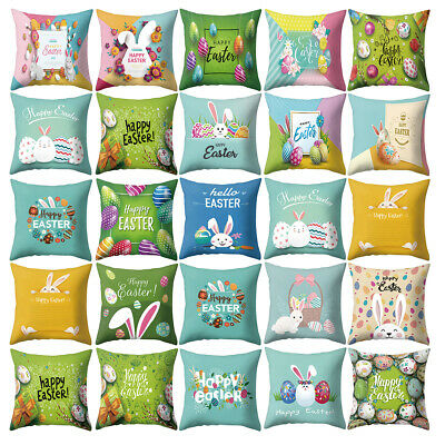 YOENYY Hello Flower Wreath Throw Pillow Cover Cushion Case for Sofa Couch Spring Easter Home Decor Cotton Linen 18 x 18