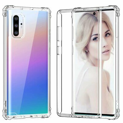 Samsung Galaxy Note 10 Plus Case Heavy Duty Full Body 360 Protective Cover Clear