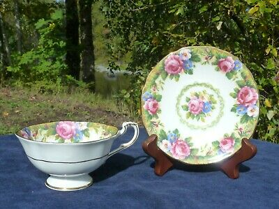 Paragon Tapestry Rose C.1945-52 Double Warrants White Sided Cup A1 + ! Condition