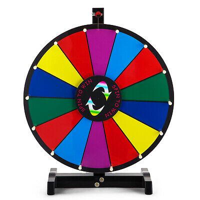 46cm Prize Wheel - Tabletop Colourful Editable Fortune Spin Game Tradeshow