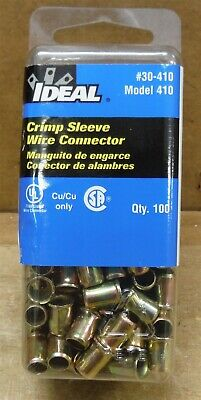 Pack of 100 Ideal 30-410 Steel Crimp Connector, Model 410 18-10 AWG FREE S&H d61