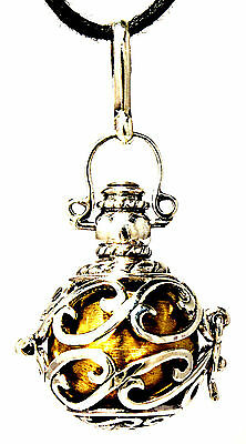 """925 Sterling Silver /"""" Angel Caller with Amethyst /""""  18/""""//20/"""" Pendant A849"""