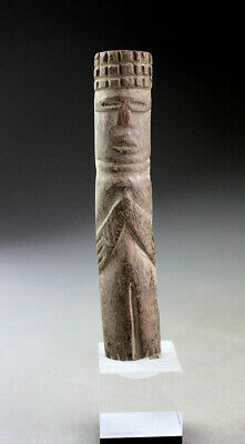 *Sc* Interesting Pre-Columbian Mayan Carving Of A Divine Figure!