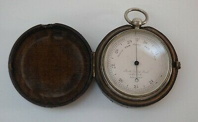 Very Early Cased Pocket Barometer By Smith Beck & Beck London