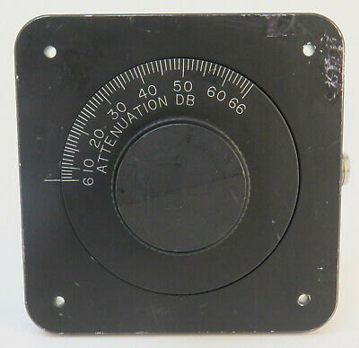 Weinschel Attenuator 940-60-33-1 Continuously Variable DC 4GHz 6-66dB