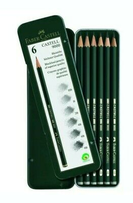 FABER-CASTELL USA 119063 CASTELL 9000 SERIES GRAPHITE PENCIL 6CT TIN SETt