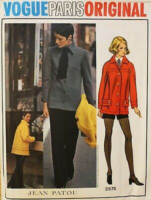 Designer Jean Patou - Vogue Paris Original - vintage sewing pattern - Vogue 2575