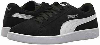PUMA SMASH WOVEN Lace Up Synthetic Leather Black Trainers