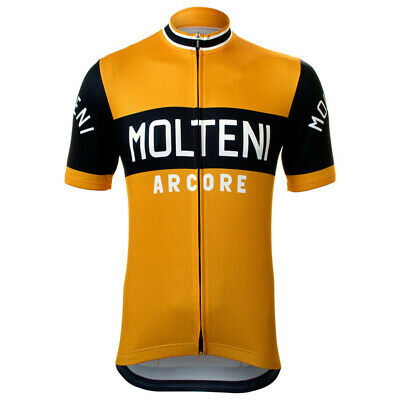 Team Retro Molteni Arcore Vintage Cycling Jersey Cycling Jersey Short Sleeve