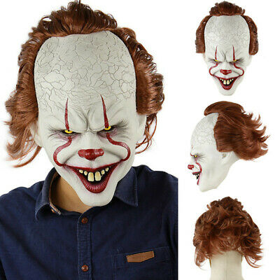 Pennywise Joker Mask It Chapter Two 2 Horror Clown Halloween Scary Mask Costumes