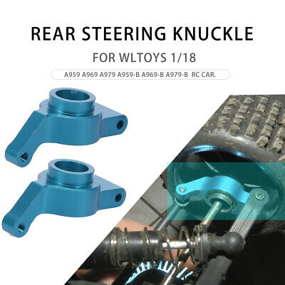 2PCS Metal Rear Steering Knuckle 1//18 RC Car Parts for WLtoys A959-B A979-B T2C9