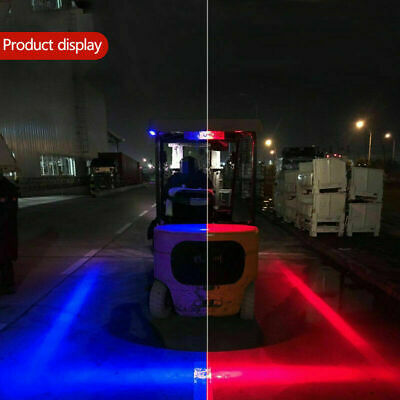 30W Blue/Red Line LED Forklift Car Truck Warning Lamp Safety Working Work Lights
