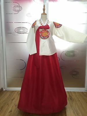 Korean Traditional Woman Korean National Hanbok Dress Custom Made Hanbok Costum